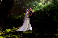 Romantic Bridal portraits in Forest