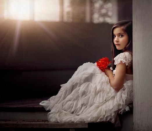 70e9de5a94b Flower girl in cream dress