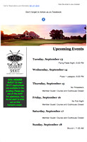 Canebrake Country Club: Updates on events that are happening at the club